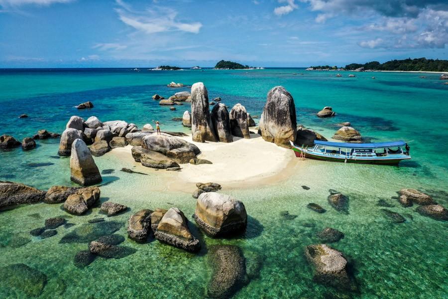 Belitung island in Indonesia