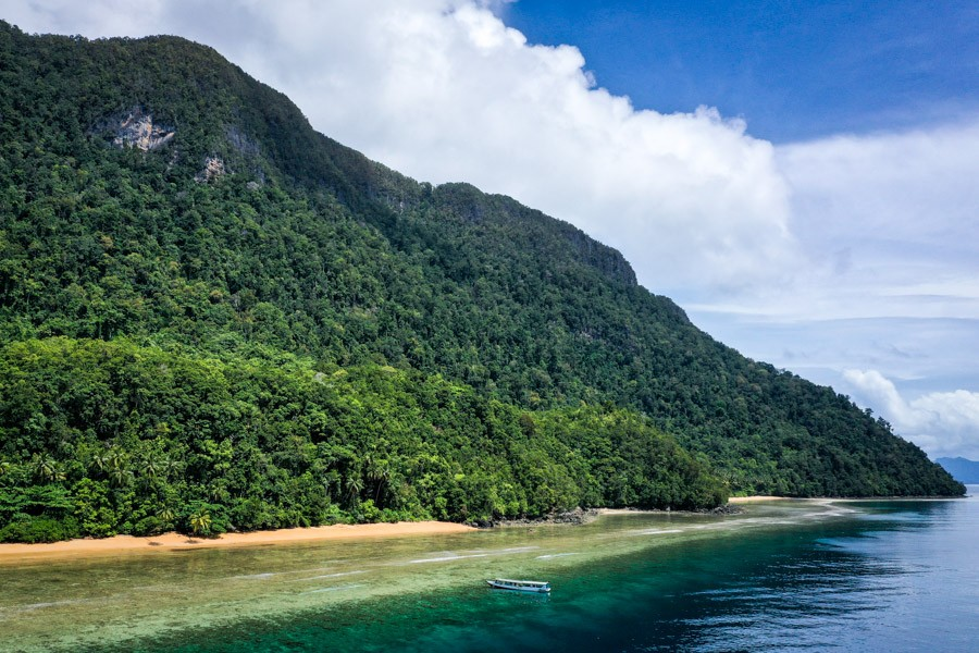 Pantai Pasir Merah drone picture