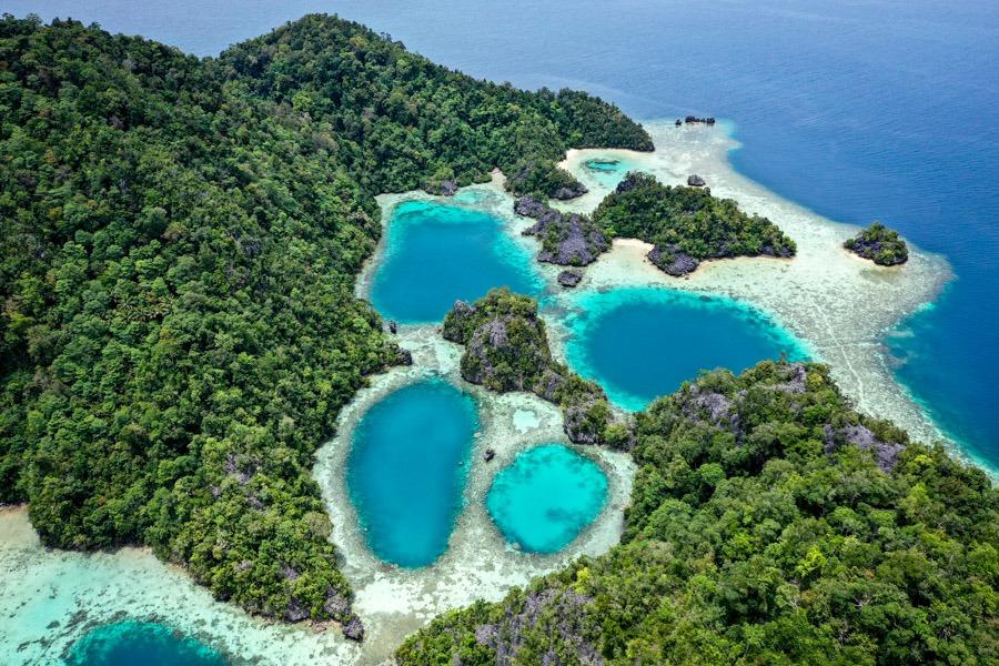 Sombori Island Rumah Nenek drone picture in Sulawesi