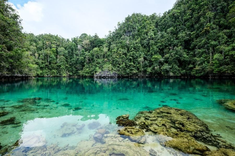 Danau Tobelo lagoon in Labengki