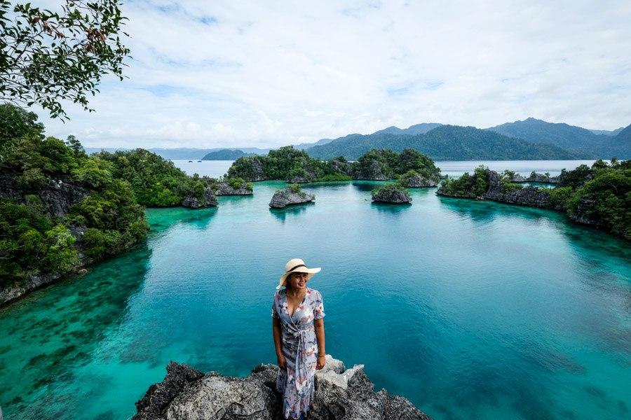 Puncak Kayangan viewpoint in Sulawesi