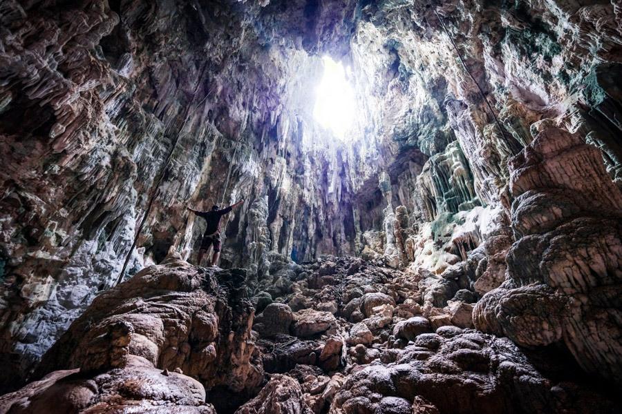 Gua Berlian cave in Sulawesi