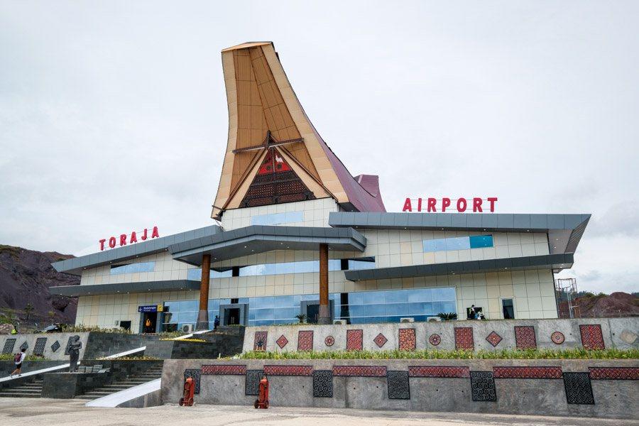 New Tana Toraja airport in Sulawesi Indonesia