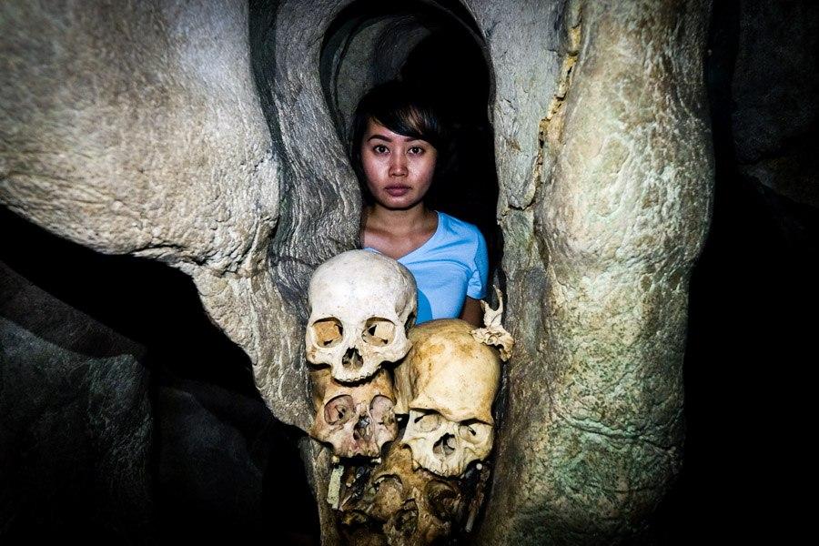 Burial cave at Londa in Tana Toraja Indonesia