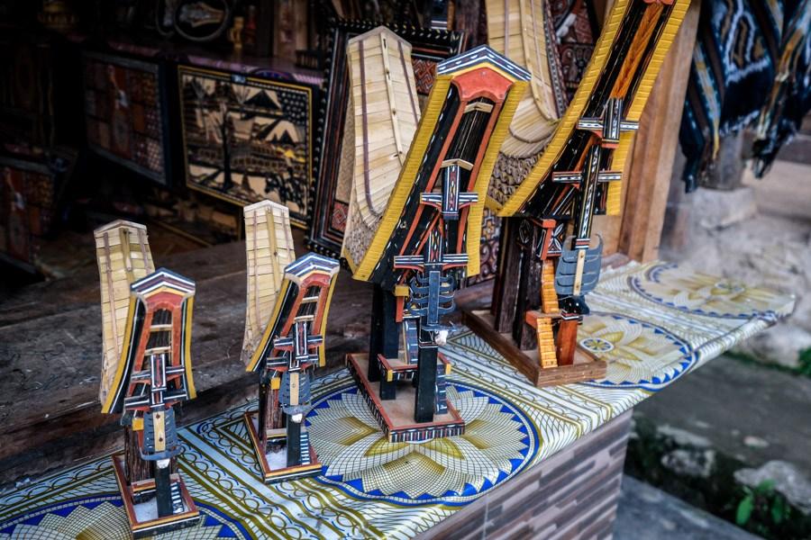 Souvenir tongkonan houses