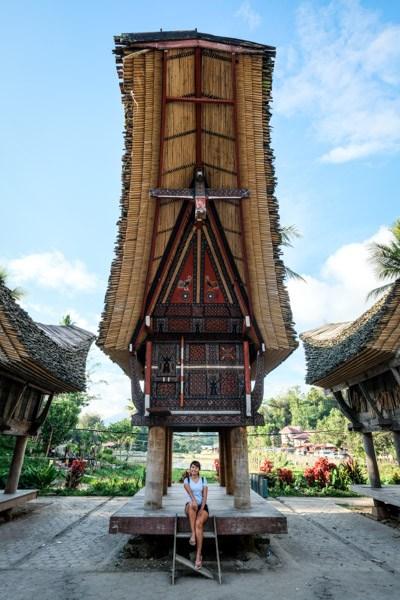 Tongkonan house at Kete Kesu in Tana Toraja Indonesia