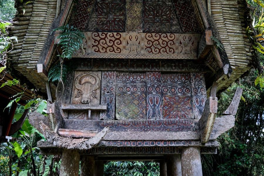 Tongkonan close up house in Tana Toraja Indonesia