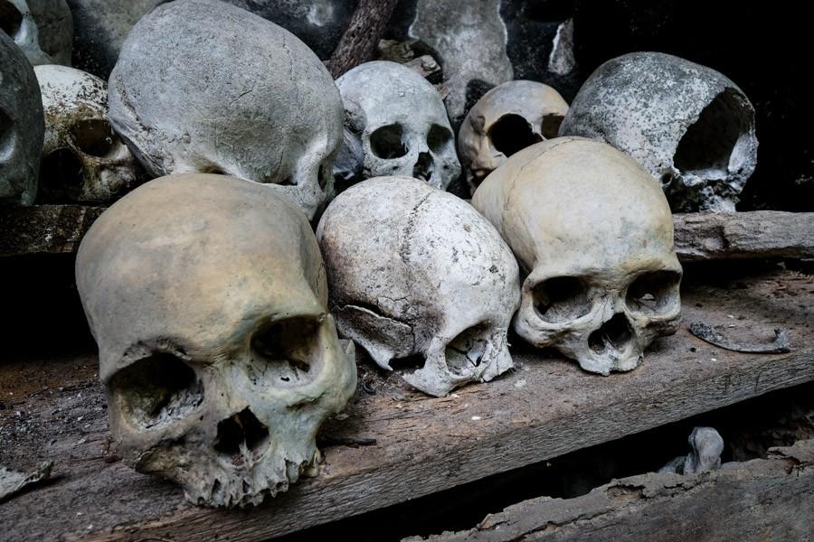Skulls in Tana Toraja Indonesia