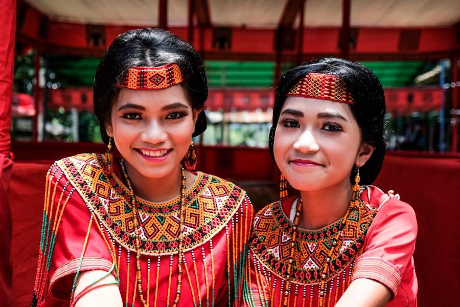 Tana Toraja women in traditional dress in Indonesia