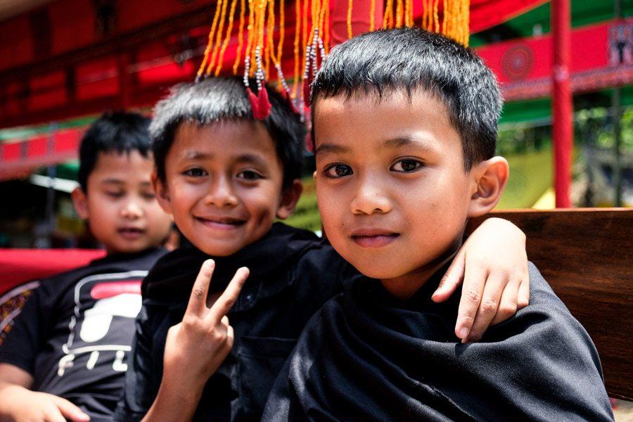 Toraja people and kids