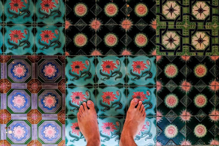 Temple floor tiles