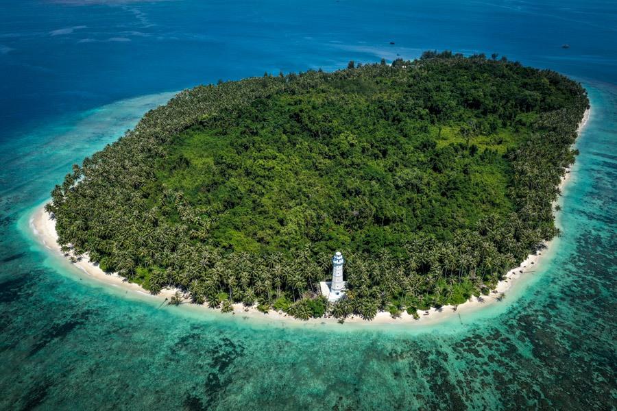 Pulau Karang Barus Sumatra Indonesia Island Drone Picture