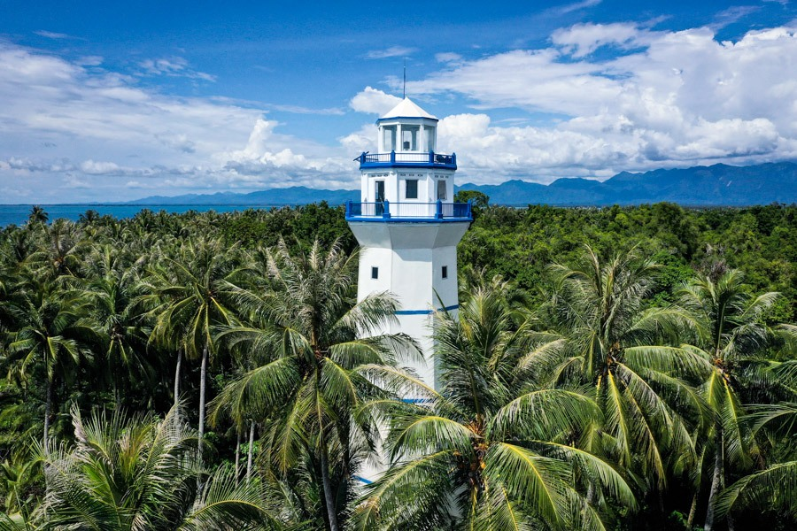 Pulau Karang Barus Sumatra Indonesia Lighthouse Drone Picture