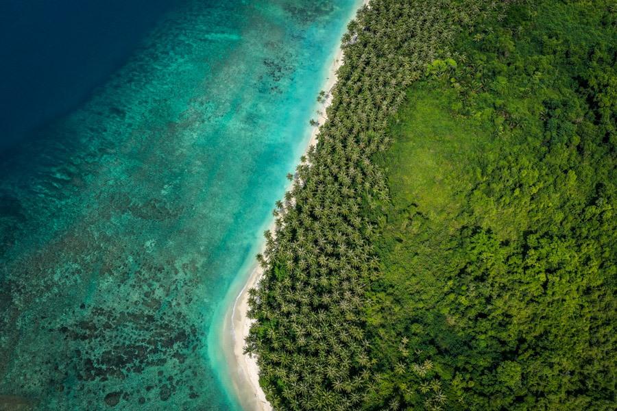 Sumatra Indonesia island drone picture