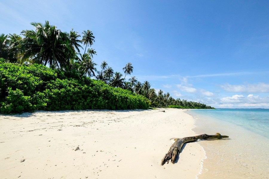 Beach at Pulau Banyak Islands Indonesia