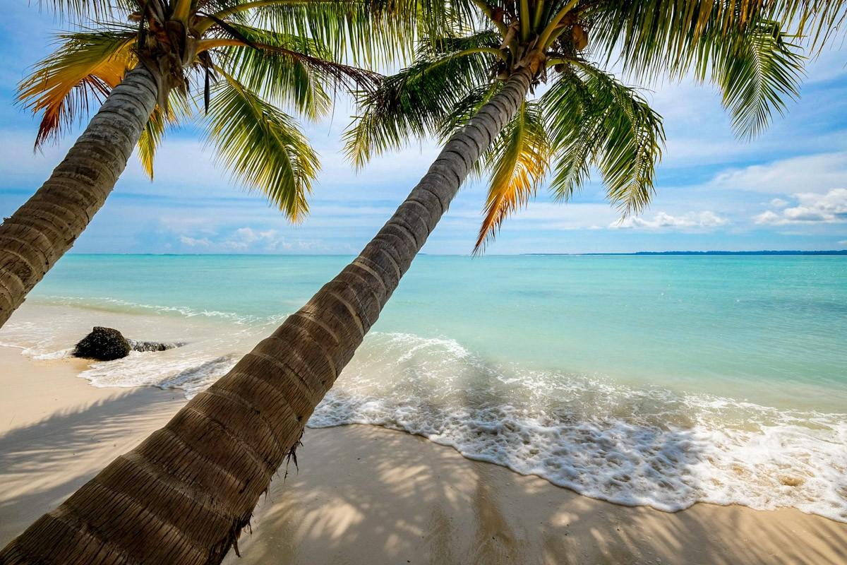 Beautiful beach at Pulau Banyak Islands Indonesia
