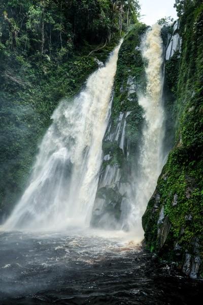 Lae Mbilulu Waterfall In North Sumatra Indonesia