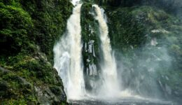 Lae Mbilulu Waterfall In North Sumatra Indonesia