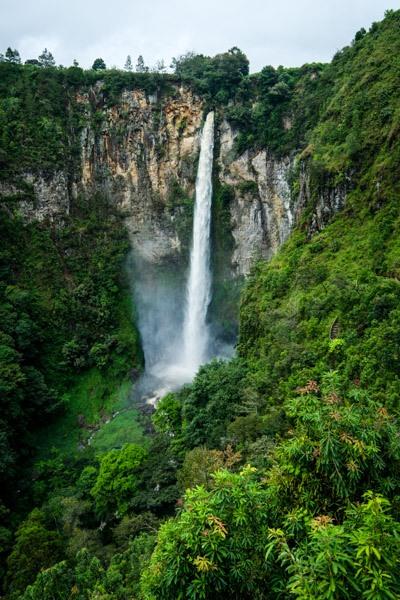 Sipiso Piso Waterfall In Berastagi Sumatra Indonesia