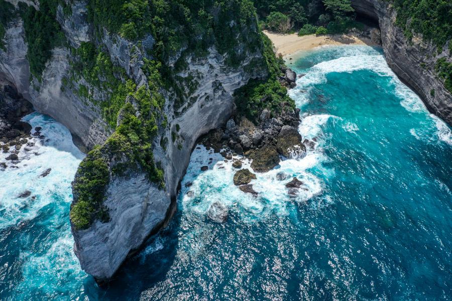 Nyanyad Beach Nusa Penida Bali Drone