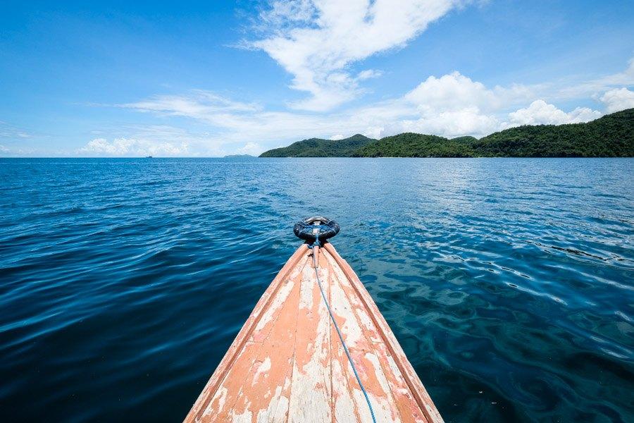 Boat ride to Goa Rangko