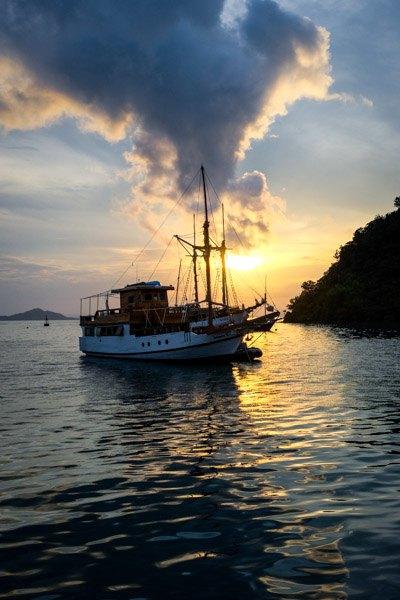 Labuan Bajo Flores Boat Sunset