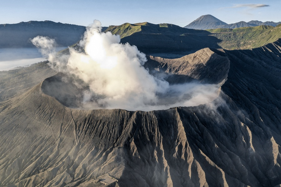 Mount Bromo Crater Sunrise East Java Indonesia Volcano Tour