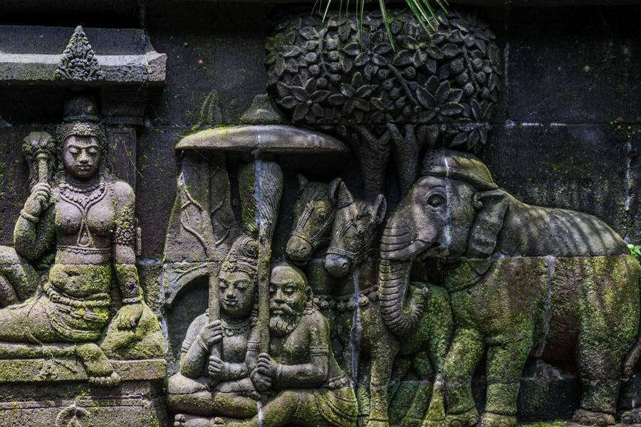 Stone carvings elephant