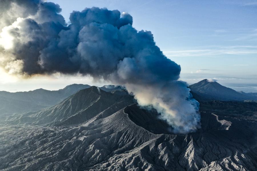 Gunung Dukono Volcano Drone Maluku Indonesia