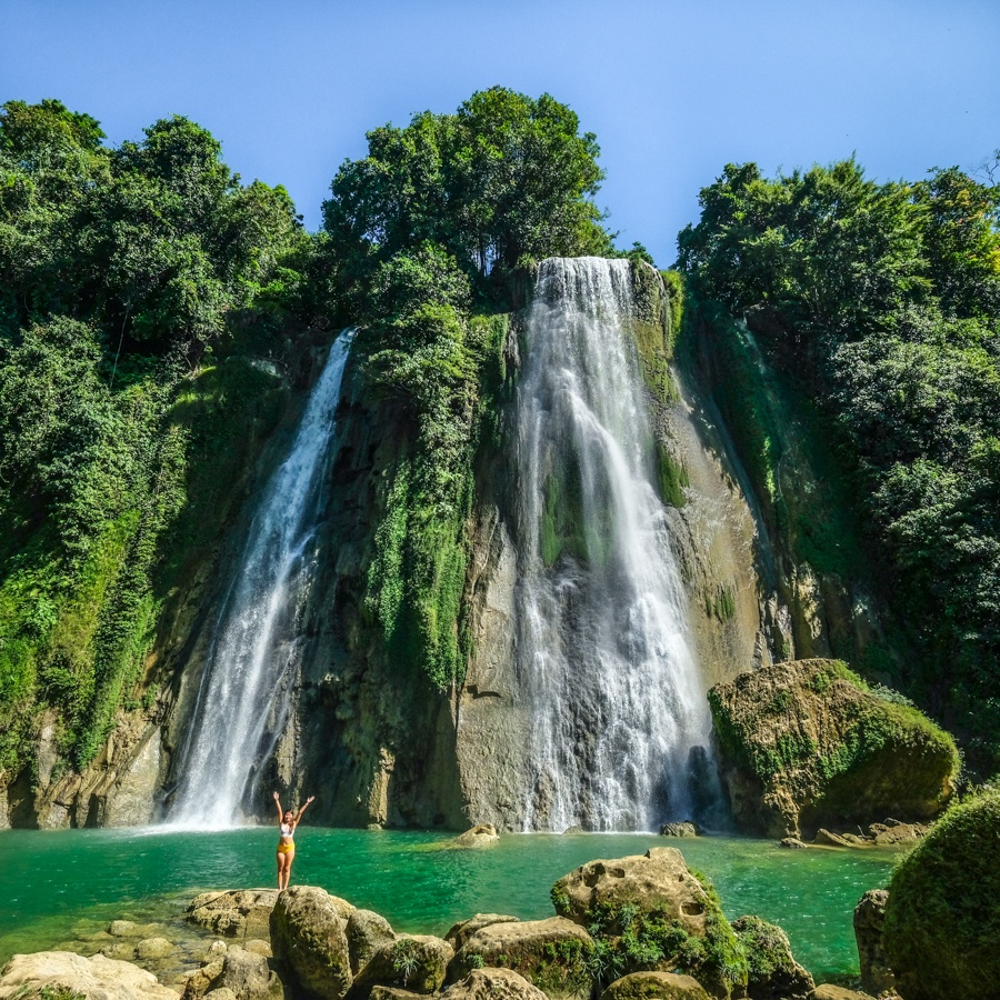 Curug Cikaso Waterfall in West Java