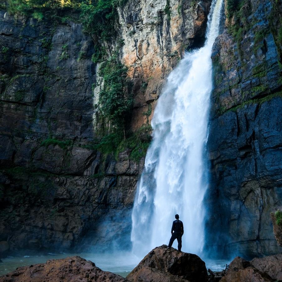Curug Cimarinjung Waterfall in West Java