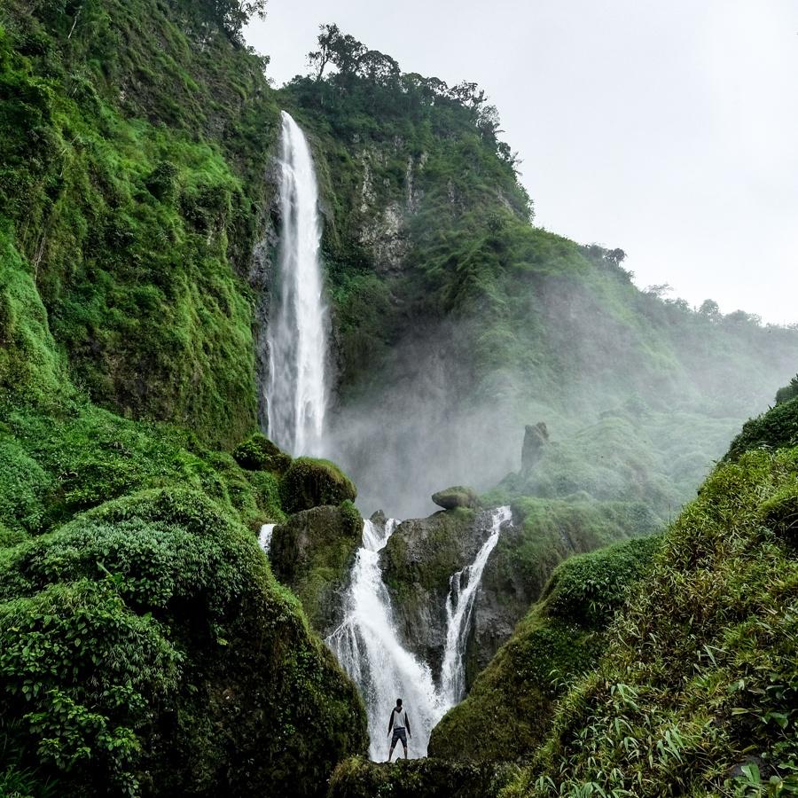 Curug Citambur Waterfall in West Java