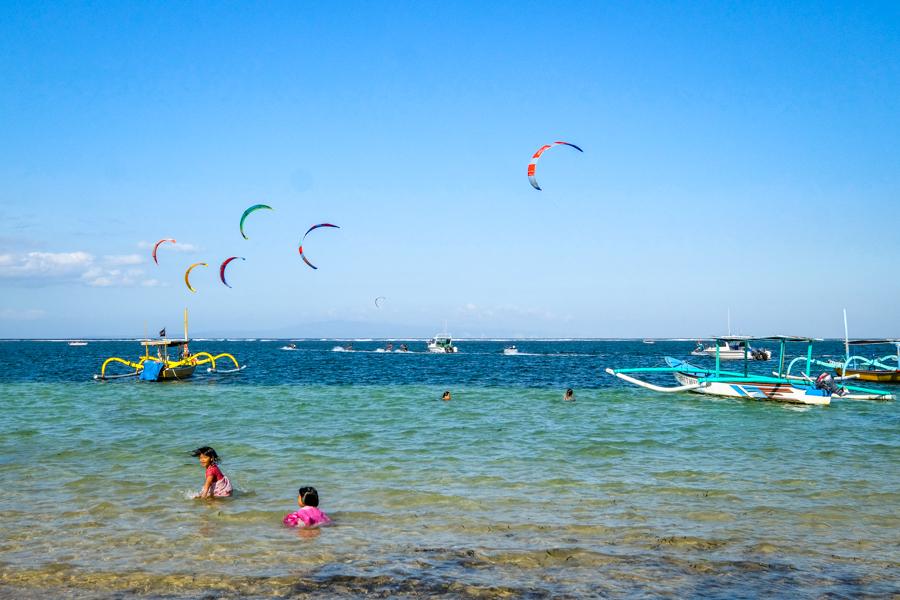 Swimming at Sanur Beach