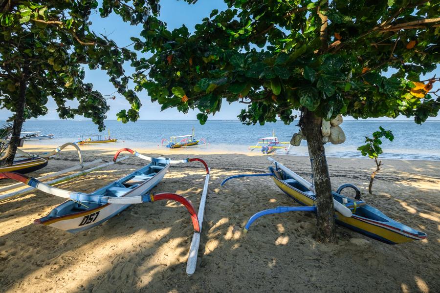 Sanur Beach Jukung Boats