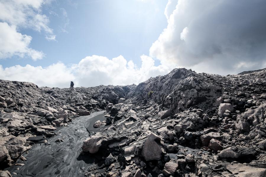 Old lava fields Mount Dukono volcano