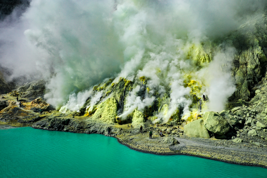 Sulfur Mining Banyuwangi Drone