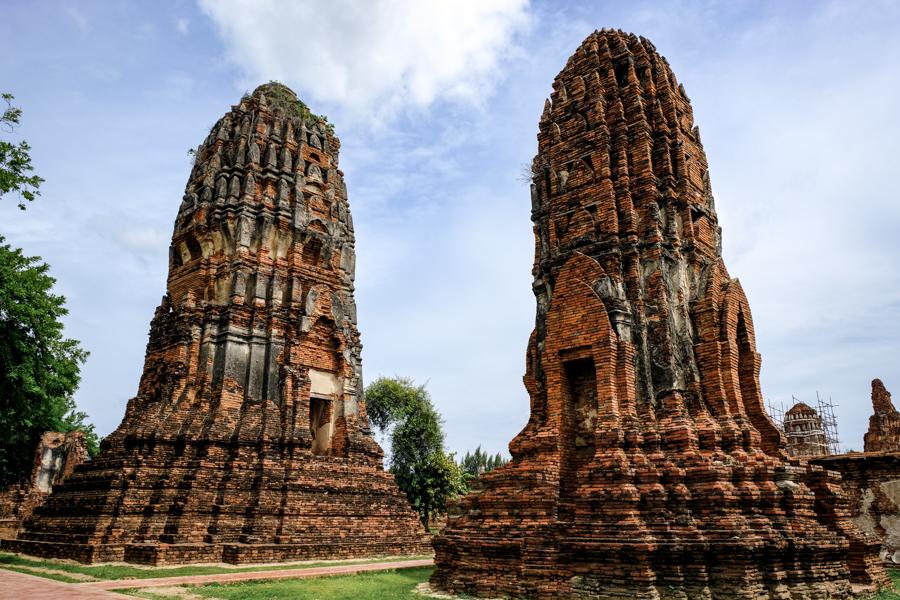Ayutthaya Ruins Temples Historical Park Bangkok Thailand