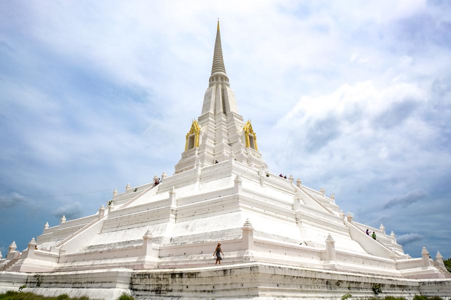 Wat Phu Khao Thong Ayutthaya Ruins Temples Historical Park Bangkok Thailand