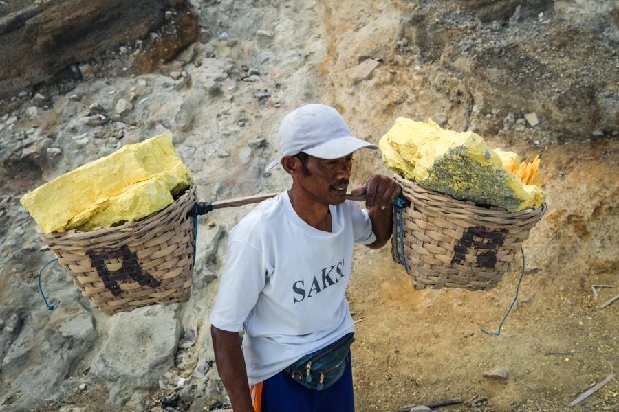 Sulfur Miner Banyuwangi Indonesia