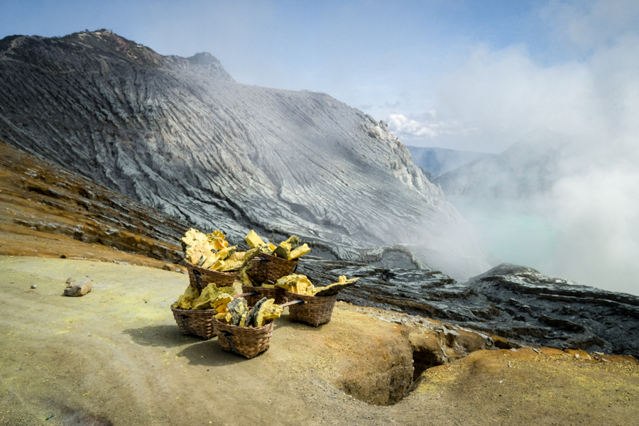 Sulfur Mining Banyuwangi Indonesia