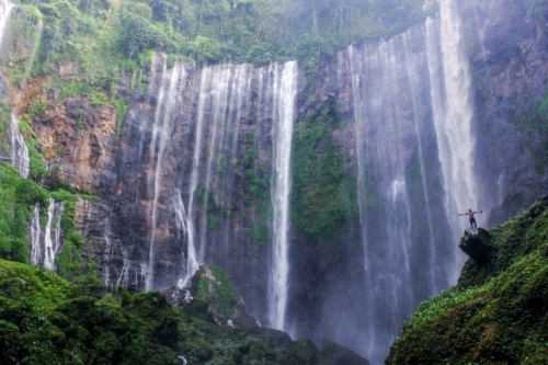 Many waterfalls in the jungle in Java